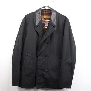 Vintage 80s Europe Craft Mens 44 Pea Coat Black